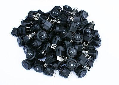 85 Pack 6a 250v 10a 125v Onoffon 3 Position Mini Round Rocker Switch 12v Spdt