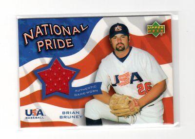2004 Upper Deck USA National Pride Brian Bruney Jersey Card