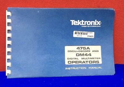 Tektronix Instruction Manual For 475a Oscilloscope Dm44 Digital Multimeter