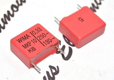 4pcs - Wima Mkp10 0.33uf 033f 330nf 250v 5 Pitch15mm Capacitor