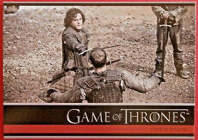 GAME OF THRONES - Season 1 - Card #08 - LORD SNOW - Rittenhouse 2012