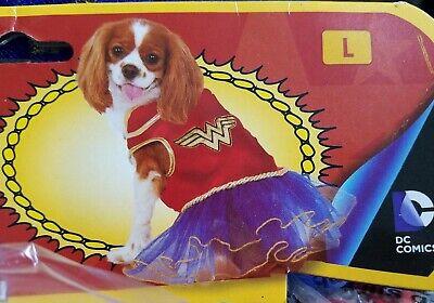 New Rubies DC Comics Wonder Woman Pet Dog Tutu Dress Costume size Large L  - Wonder Woman Pet Costume
