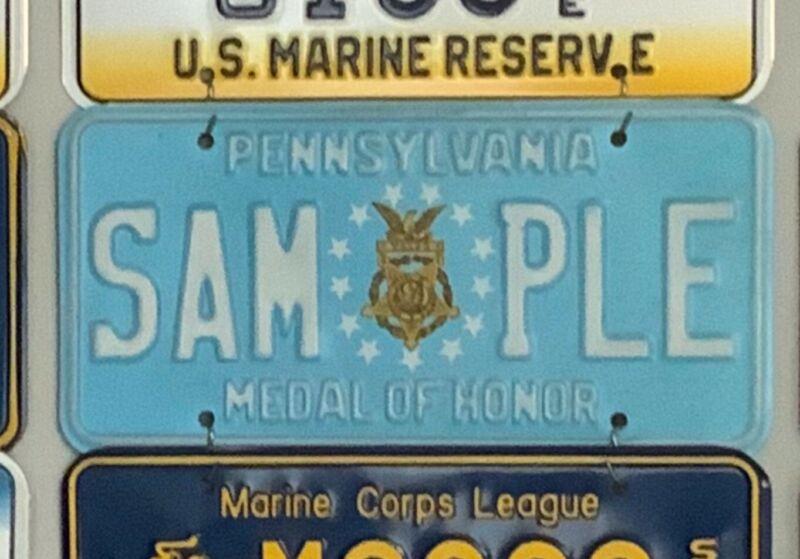 Pennsylvania Sample License Plate Tag - Medal of Honor