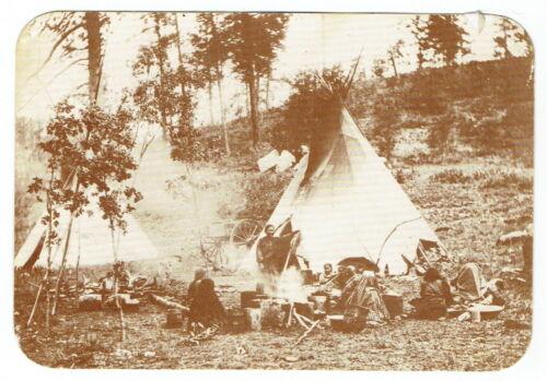 MESCALERO APACHE CAMP ~ Vintage Postcard ~ FREE SHIPPING