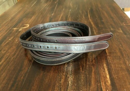 """Brown 62"""" CWD nylon lined Stirrup leathers - Good cond. Retail $215."""