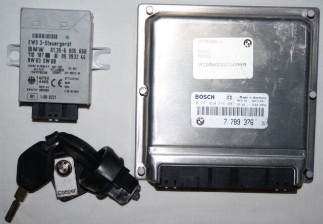 BMW E39 2.5D M57 ENGINE CONTROL UNIT ECU EWS KEY START UP KIT 7789376