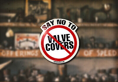 No Valve Covers Water Slide Decal Ford Flathead Hot Rod Rat Racing SCTA NHRA