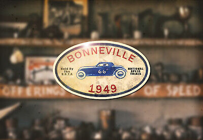 1949 Bonniville Hot Rod Water Slide Decal Ford Flathead Rat Racing Heads Cams
