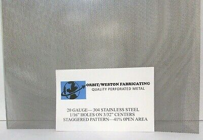 116 Holes --20 Gauge 304 Stainless Perforated Sheet--9-58 X 13