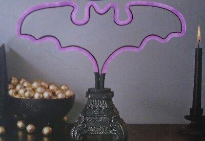 Halloween Mysterious Purple Bat Shaped Table Light