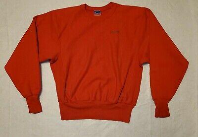 VTG Vintage 90's CHAMPION Mens Size Medium Red Reverse Weave Logo Sweatshirt EUC