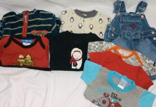 Lot Of 10 Boy Clothes All 6-9 Month ~ Mon Petit ~ Baby Paris ~ Carters ~ Plus