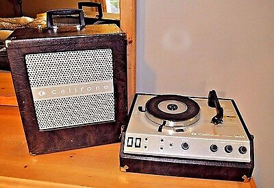 SERVICED CALIFONE 1845 Portable Vintage Record Player Phonograph Turntable Works