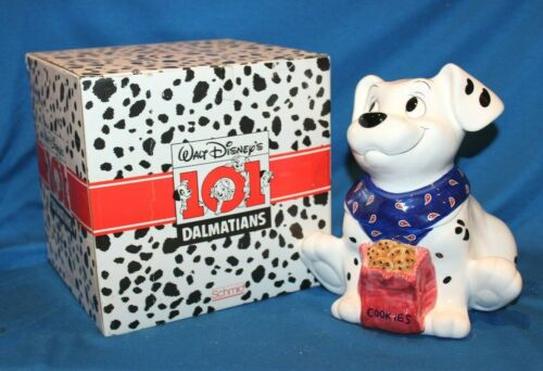 101 DALMATIONS MUSICAL COOKIE JAR BY SCHMID W/ ORIG. BOX-NEVER DISPLAYED - 1990s