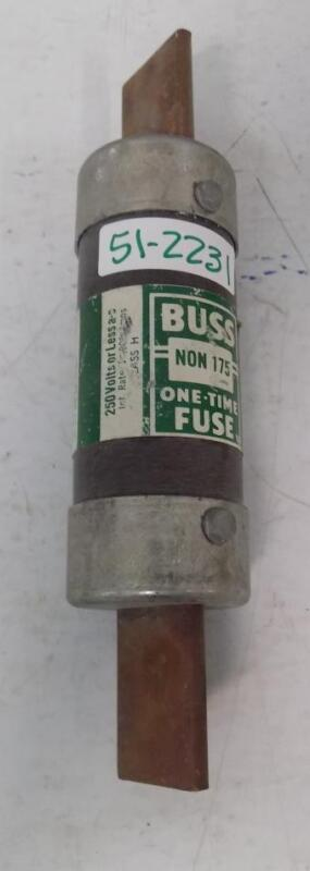 BUSS CLASS H 175A ONE-TIME FUSE NON 175