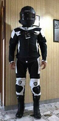 tuta moto pelle e tessuto divisibile giacca + Pantalone BIESSE PROTEZIONI CE 3XL