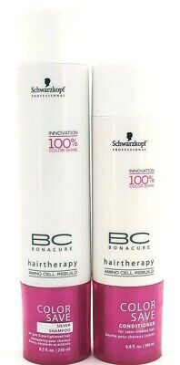 Schwarzkopf BONACURE Color Save Shampoo 8.5 oz & Conditioner 6.8oz Set (SEALED) Schwarzkopf Bc Bonacure Color Seal