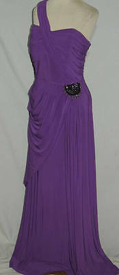 Couture Jersey Gown - One Shoulder NV Couture Jersey Draped Gown w Sexy Back NWT Sz 10