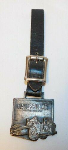 RARE old Caterpillar Road Grader Bull Dozer Advertising Watch Fob