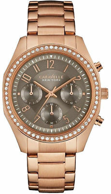Caravelle by Bulova Ladies Rose Gold Multi Dial Watch RRP £139