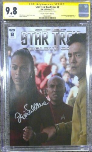 Star Trek: Boldly Go #8 photo cover__CGC 9.8 SS__Signed by Zoe Saldana