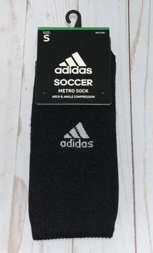 adidas Metro IV Soccer Socks , Black/White/Night Grey, Small