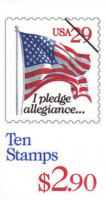 U.S. BOOKLET OF 10  SCOTT#BK198 1994 29ct FLAG & PLEDGE RED DENOM MINT P#K1111