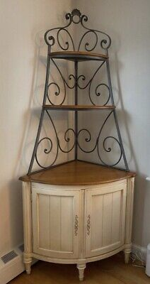 ETHAN ALLEN Corner Baker's Rack Country French Legacy Cabinet #13-9520