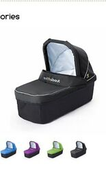 Out n about single carrycot and basket