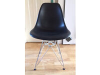 Effiel Dining Chair with Metal Legs Black by Dwell Rrp £59