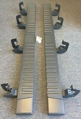 "2014-2016 Silverado Sierra Crew Cab 6"" Rectangular Black Assist Steps 22805443"