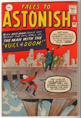 Marvel TALES TO ASTONISH 42 Pym GIANT MAN AVENGERS FN 6.0 mid GRADE