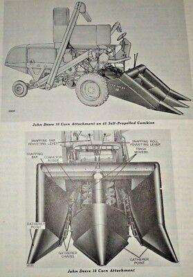 John Deere 10 Corn Head Attachment Parts Catalog Manual Catalogfits 45 Combine