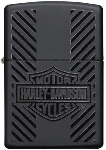 Zippo Harley Davidson HD, Bar and Shield Logo Tire Tread, Black Matte 49174 NEW