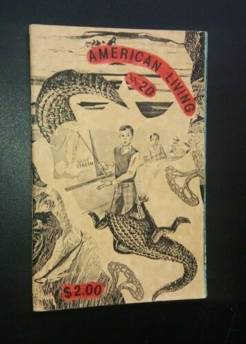 AMERICAN LIVING #20 1980s COLLAGE ZINE fluxus dada mail art 1987 Shores Mark