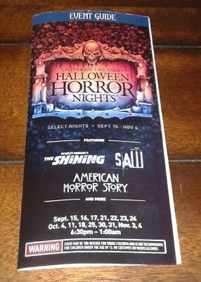 **Universal Orlando's Halloween Horror Nights 27 Map Event Guide 2017 - Halloween Horror Nights Map 2017