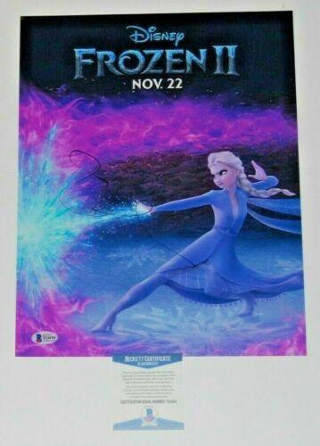 IDINA MENZEL signed (FROZEN II) autographed Movie 11X14 *Elsa* photo BECKETT BAS