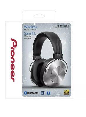 Pioneer SE-MS7BT-S Silver Bluetooth Wireless Hi-Res Closed Headphone