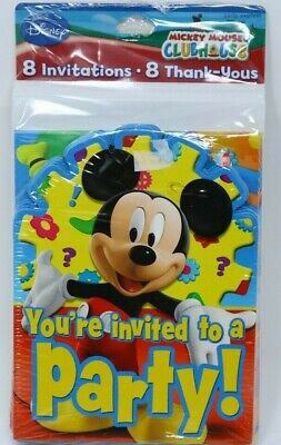 Mickey Mouse Thank You Cards (Mickey Mouse Clubhouse Birthday Party Invitations & Thank You Cards 8)
