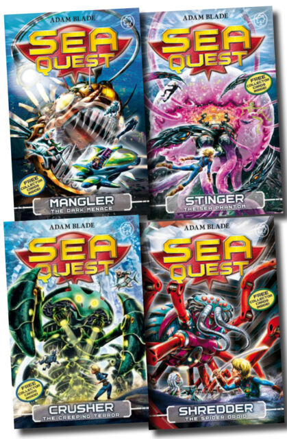 Sea Quest Series 2 Collection Adam Blade 4 Books Set (5 to 8) Shredder, Stinger