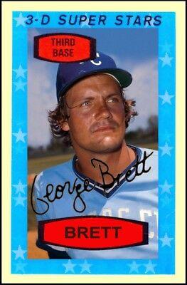 George Brett 1975 Rookie 3 D Super Stars Aceo Art Card    Buy 5 Get 1 Free