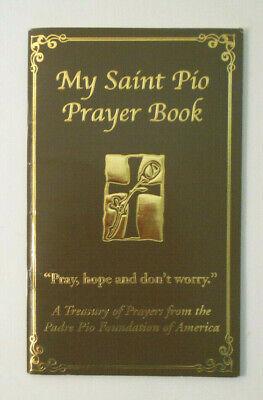 My St Padre Pio Prayer book-Patron Saint of Miracle Healing-large -