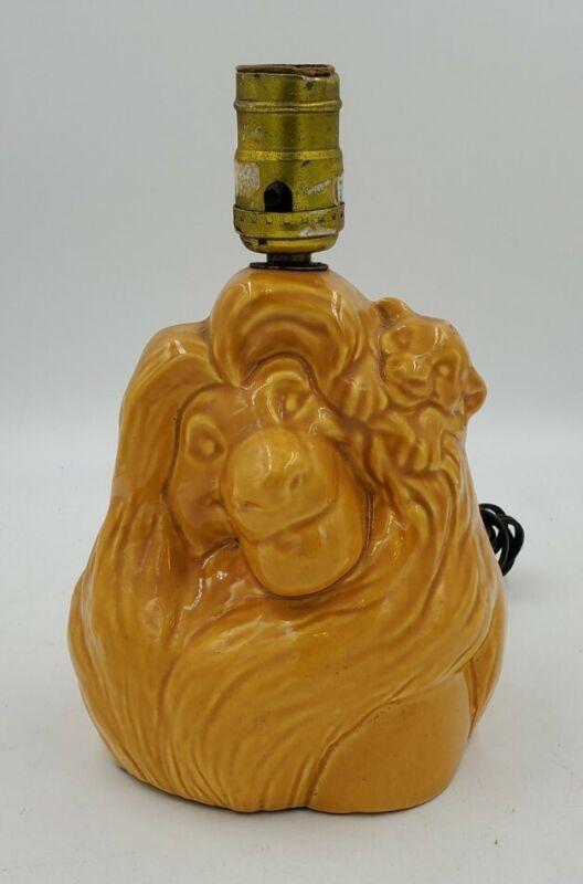 Vintage Disney The Lion King Simba Mufasa Ceramic Table Lamp
