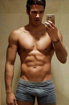 Shirtless Male Hunk Beefcake Muscular Muscle Gym Jock Briefs Guy PHOTO 4X6 F1180