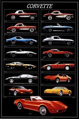Corvette Chart Poster Print, 24x36