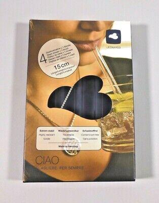 4x Glas Strohhalme/Trinkhalme + 1 Bürste - Leonardo - nachhaltig - plastikfrei