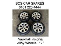 "Vauxhall Insignia Alloy wheels inc tyres. 17"""