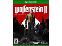 Wolfenstein 2 Xbox one new
