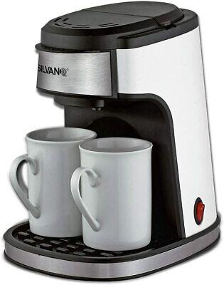 Cafetera eléctrica de Goteo con 2 Tazas de Porcelana - Envío urgente...