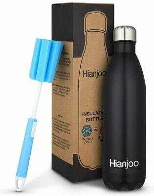 500ml Borraccia Termica in Acciaio Bottiglia Termica Doppia Parete Caldo Freddo